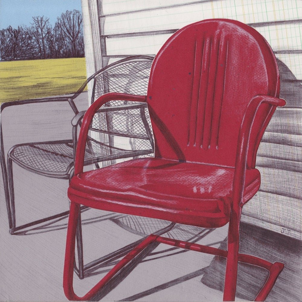 Exceptionnel Art Print Vintage Metal Lawn Chair Wall Art Metal Lawn