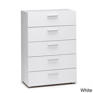 Austin Space-saving Foiled Surface Five-drawer Chest ...