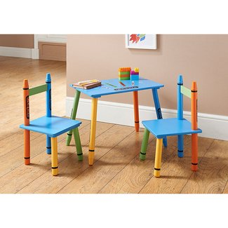B&M Crayon Table & Chairs - 311273 | B&M