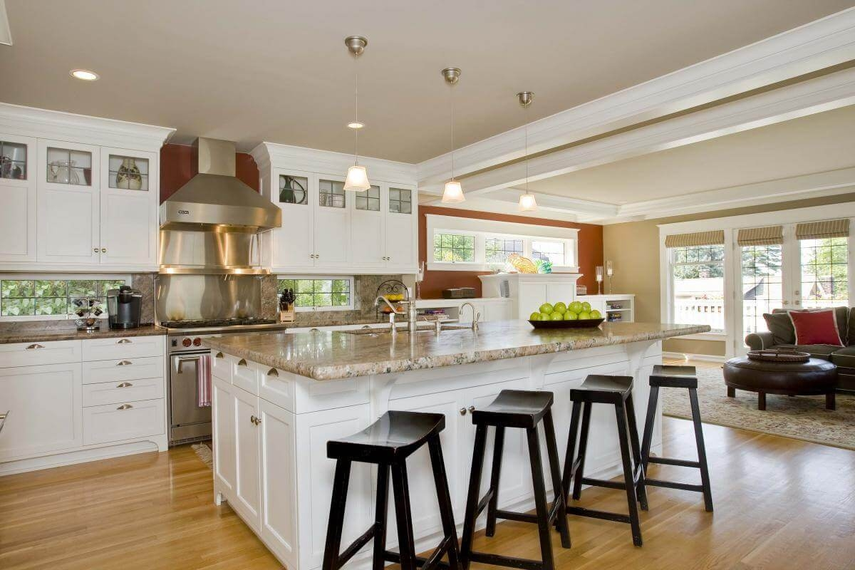 Kitchen Island With Bar Stools Visual Hunt
