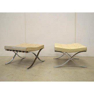 Barcelona Stool by Mies van der Rohe for Knoll, 1960s