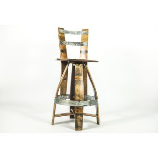 BARREL BAR STOOL WITH BACKREST