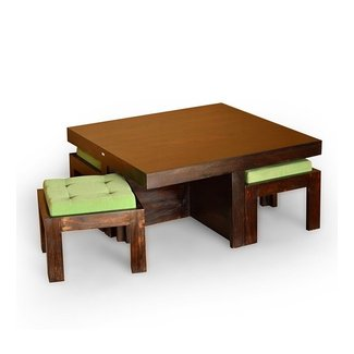 Basil Trendy Coffee Table With 4 Stools @ 12999 from