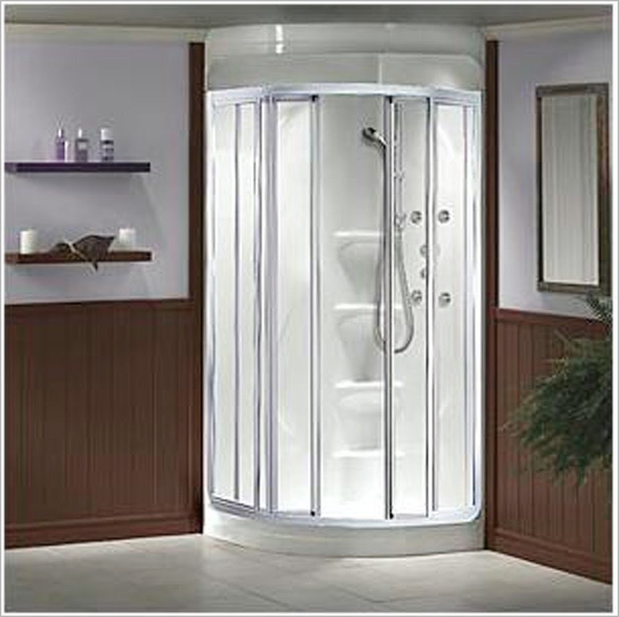 Corner shower for small bathroom visual hunt - Shower stall designs small bathrooms ...
