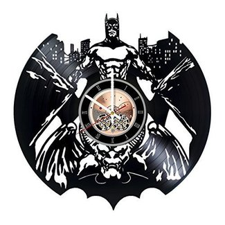 Batman Vinyl Record Wall Clock - Living room or Home room wall decor - Gift ideas for men and women, boys - Superhero Movie Unique Art Design