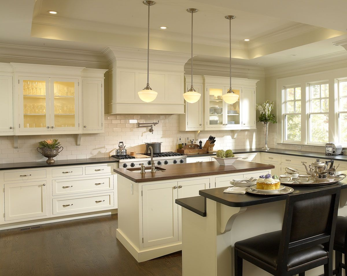 Beautiful Antique White Kitchen Cabinets For Timeless .