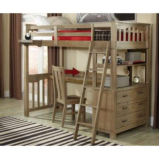 Bedroom. Delectable Full Size Loft Bed With Stairs For ...