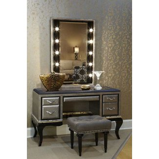 Bedroom Vanity With Lighted Mirror Jonie James Design ...
