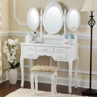 Bensenville Vanity Set with Mirror