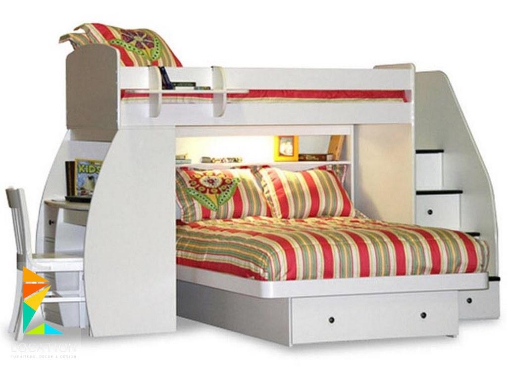 Berg Furniture Sierra Twin Over Full Loft Bed Desk Stairs