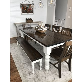 Awesome 50 Dining Table With Bench Youll Love In 2020 Visual Hunt Squirreltailoven Fun Painted Chair Ideas Images Squirreltailovenorg