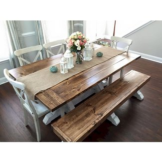 Wooden Bench For Kitchen Table - Photos Table and Pillow ...