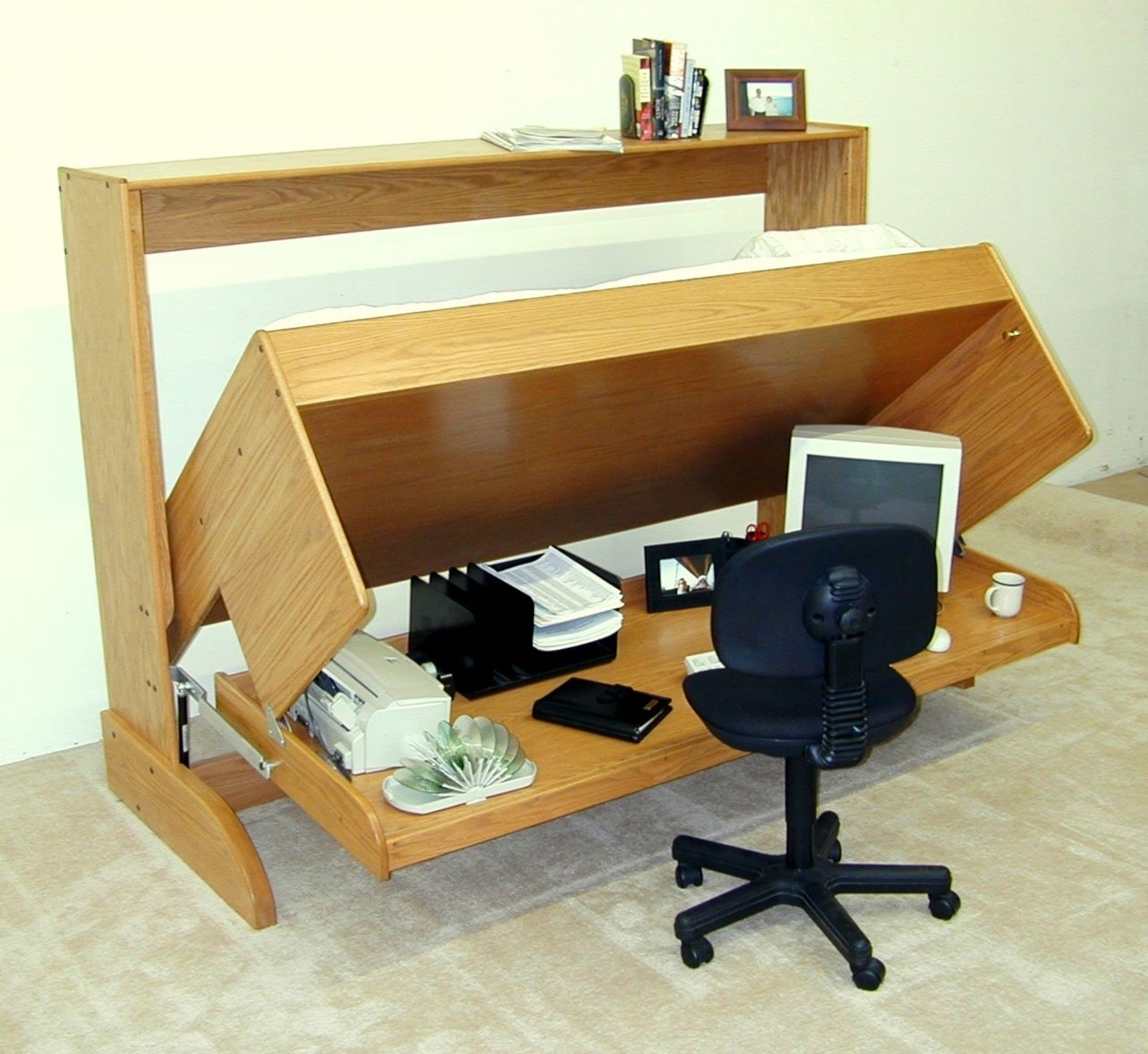 Murphy Bed With Desk Visualhunt, Twin Murphy Bed Desk Combination
