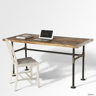 Best 25+ Reclaimed wood desk ideas on Pinterest | Rustic