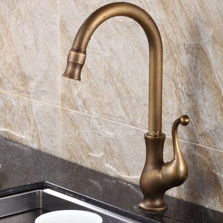 Antique Brass Kitchen Faucet - Visual Hunt