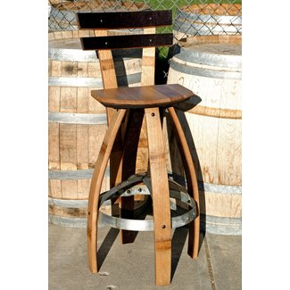 Best Ideas About Wine Barrel Bar Stools On Rustic Wine