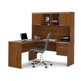 Bestar Flare 2-PIece L-Shape Executive Desk Office Suite ...