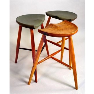 Black And Timber Bar Stools Tags : wooden tractor seat