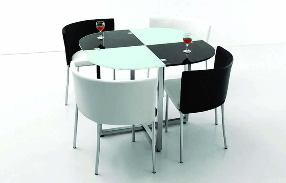 Space saving table and chairs visual hunt - Space saving dining table ikea ...