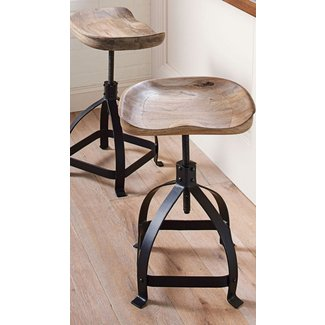 Black And Wood Bar Stools Tags : wooden tractor seat