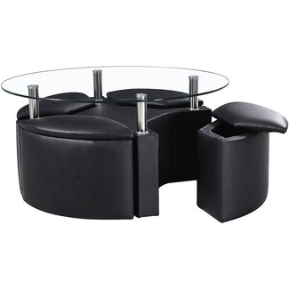 Black Coffee Table With Stools | Coffee Table Design Ideas