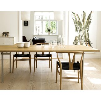 black seat wishbone chair | Hans Wegner Wishbone Chair
