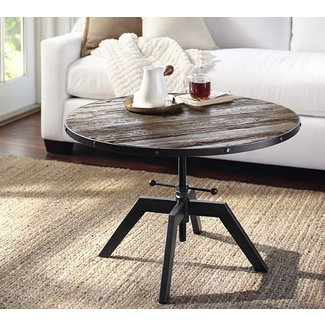 Blaine Reclaimed Wood Adjustable Bunching Coffee Table ...