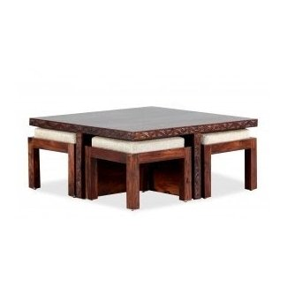 Blaise Coffee Table With 4 Stools - Furnspace