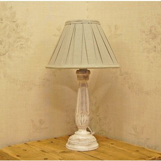 Bowley & Jackson French Wooden Shabby Chic Table Lamp ...