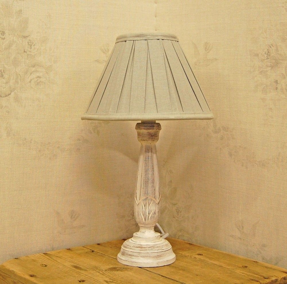 Bowley U0026 Jackson French Wooden Shabby Chic Table Lamp .