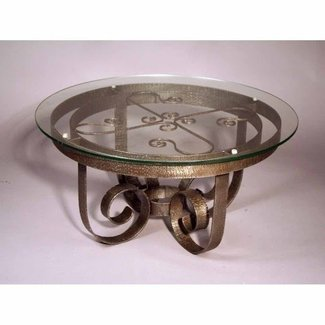 Breathtaking Round Wrought Iron Coffee Table – round ...