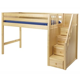 Bunk Bed With Storage Stairs Loft Bed With Stairs ...