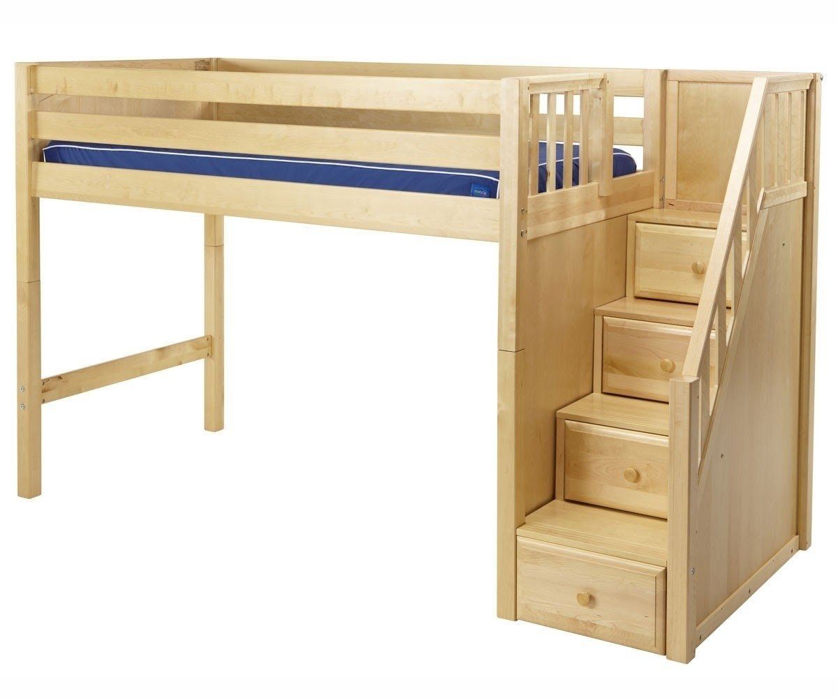 Bunk Bed With Storage Stairs Loft Bed With Stairs .