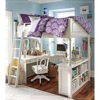 Bunk Beds : Full Loft Bed With Stairs Full Size