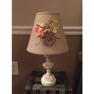 Burlap shabby chic lamp shade by RusticReinvintage on Etsy