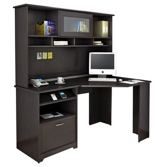 Bush Cabot Corner Computer Desk with Hutch & Reviews ...