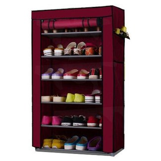 Buy 6 Layer Multi-Purpose Storage Rack Cum Shoe Rack With
