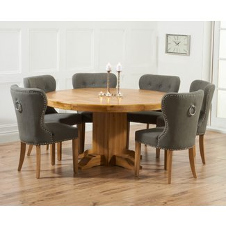 Buy Mark Harris Turin Solid Oak 150cm Round Dining Set