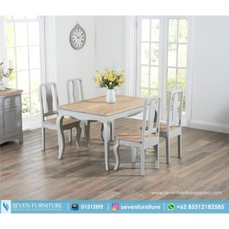 Buy the Parisian 130cm Grey Shabby Chic Dining Table with