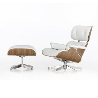 Buy Vitra LCH Eames Lounge Chair & Ottoman - Snow