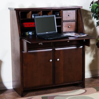Cappuccino Secretary Desk