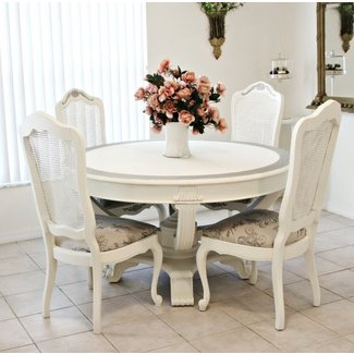 Captivating Shabby Chic Dining Table And Chairs Stunning