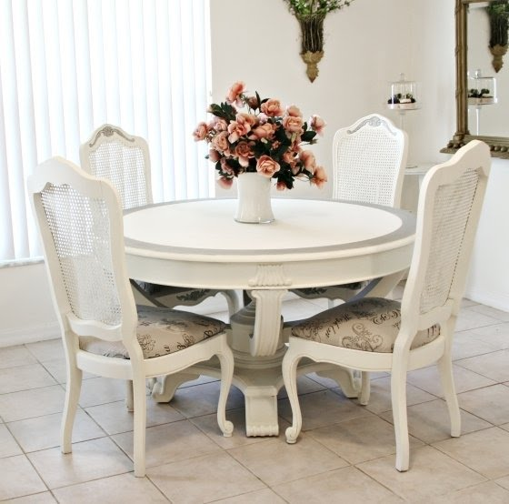 Genial Captivating Shabby Chic Dining Table And Chairs Stunning .