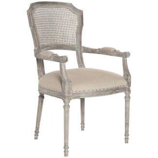 Capulet French Country Caned Back Oak Dining Arm Chair ...