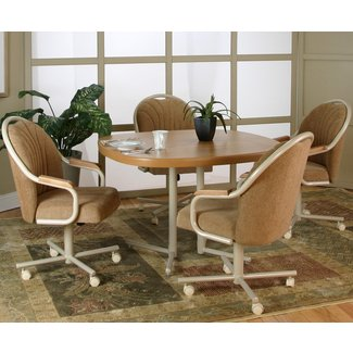 Caster Chair Company 5 Piece Caster Dining Set with Swivel