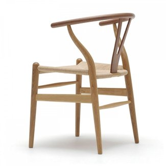 CH24 Mixed Wood Wishbone Chair