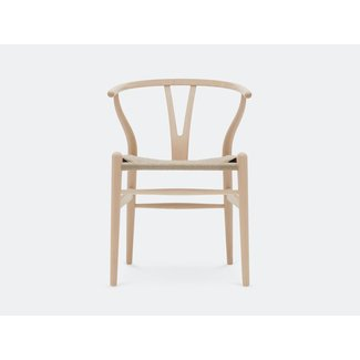 "Chaise CH24 ""Wishbone chair"" - Bois naturel - Hans Wegner"