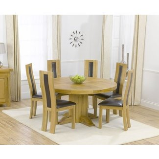 Charming Round Table For 6 Round Dining Table For 6