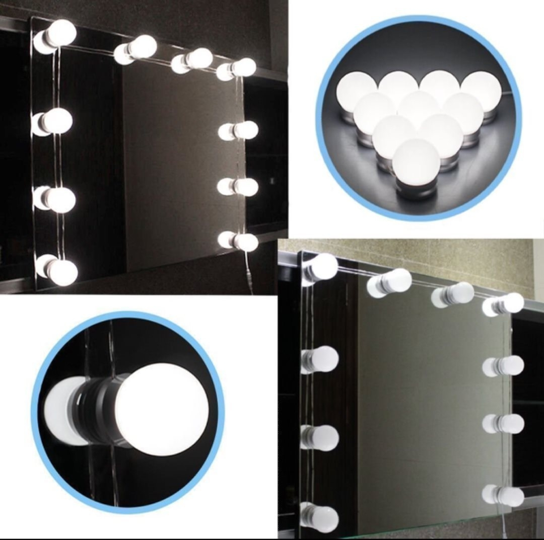 Chende Hollywood Style LED Vanity Mirror Lights Kit With Dimmable Light  Bulbs, Lighting Fixture Strip