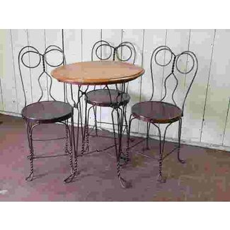 Chicago Wire Chair Ice Cream Parlor Set : Lot 208